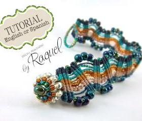 Micromacrame bracelet Missoni Inspired TUTORIAL en ESPAOL 