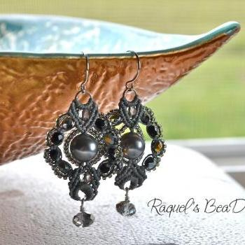 Micro Macrame Tutorial en ESPAñOL / Aretes Bubbly Tear Drops