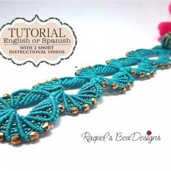 Micro Macrame Shells Tutorial with 2 short videos - ENGLISH VERSION